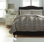 Voltos Dark Brown King Duvet Cover Set Available Online in Dallas Fort Worth Texas