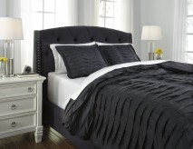 Voltos Charcoal Queen Duvet Cover Set Available Online in Dallas Fort Worth Texas