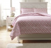 Ashley Loomis Pink Full Comforter Set Available Online in Dallas Fort Worth Texas