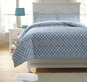Ashley Loomis Aqua Full Comforter Set Available Online in Dallas Fort Worth Texas