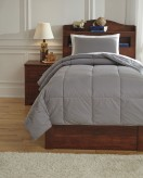 Ashley Plainfield Gray Twin Comforter Set Available Online in Dallas Fort Worth Texas