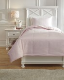 Ashley Plainfield Soft Pink Twin Comforter Set Available Online in Dallas Fort Worth Texas