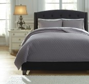 Ashley Alecio Gray King Quilt Set Available Online in Dallas Fort Worth Texas