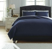Ashley Alecio Navy Queen Quilt Set Available Online in Dallas Fort Worth Texas