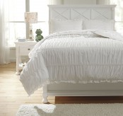 Ashley Brently White Full Duvet Cover Set Available Online in Dallas Fort Worth Texas