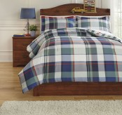 Ashley Mannan Plaid Twin Comforter Set Available Online in Dallas Fort Worth Texas