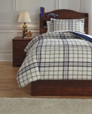 Ashley Derick Plaid Twin Comforter Set Available Online in Dallas Fort Worth Texas
