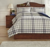 Ashley Derick Plaid Full Comforter Set Available Online in Dallas Fort Worth Texas
