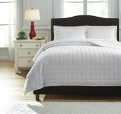 Ashley Amare White Queen Coverlet Set Available Online in Dallas Fort Worth Texas