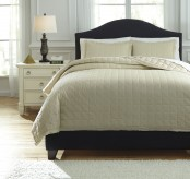 Ashley Amare Sand King Coverlet Set Available Online in Dallas Fort Worth Texas
