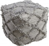 Adelphie Natural/Gray Pouf Available Online in Dallas Fort Worth Texas