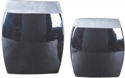 Derring Black and Nickel Vase Set of 2 Available Online in Dallas Fort Worth Texas