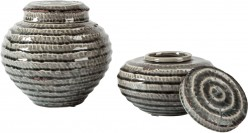 Devonee Antique Gray Jar Set of 2 Available Online in Dallas Fort Worth Texas