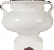 Dierdra Small Antique White Vase Available Online in Dallas Fort Worth Texas