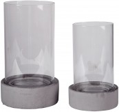 Ashley Dieter Gray Candle Holder Set of 2 Available Online in Dallas Fort Worth Texas