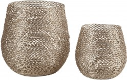 Ashley Desdemona Silver Candle Holder Set of 2 Available Online in Dallas Fort Worth Texas