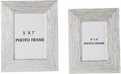Ashley Devaki White & Silver Photo Frame Set of 2 Available Online in Dallas Fort Worth Texas