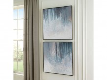 Dyan Blue/White Wall Art Set Available Online in Dallas Fort Worth Texas
