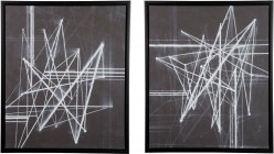 Duena Black & White Wall Art Set of 2 Available Online in Dallas Fort Worth Texas