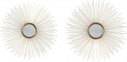 Doniel Antique Gold Accent Mirror Set of 2 Available Online in Dallas Fort Worth Texas