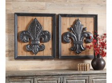 Ashley Donnan Black & Natural Wall Decor Set of 2 Available Online in Dallas Fort Worth Texas