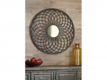 Ashley Dunstan Dark Bronze Accent Mirror Available Online in Dallas Fort Worth Texas