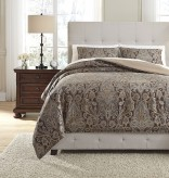 Ashley Asali Chocolate Queen Comforter Set Available Online in Dallas Fort Worth Texas