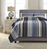 Ashley Jayson Navy Blue King Quilt Set Available Online in Dallas Fort Worth Texas