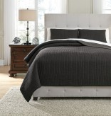 Ashley Bronx Black King Quilt Set Available Online in Dallas Fort Worth Texas
