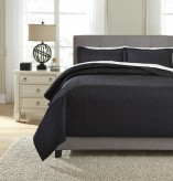 Ashley Aldis Black King Coverlet Set Available Online in Dallas Fort Worth Texas