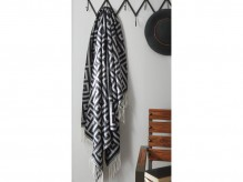 Ashley Anitra Black & Gray Decor Throw Available Online in Dallas Fort Worth Texas