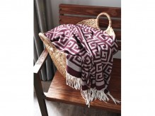 Ashley Anitra Plum Throw Available Online in Dallas Fort Worth Texas
