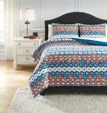 Ashley Jackalyn Blue King Comforter Set Available Online in Dallas Fort Worth Texas