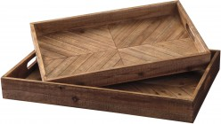 Dewitt Brown Tray Set of 2 Available Online in Dallas Fort Worth Texas