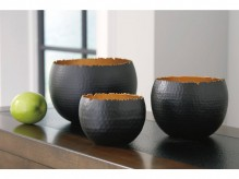 Claudine Black & Gold Bowl Set of 3 Available Online in Dallas Fort Worth Texas
