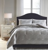 Ashley Anjelita Pewter King Comforter Set Available Online in Dallas Fort Worth Texas
