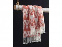 Ashley Noemi Burnt Orange Throw Available Online in Dallas Fort Worth Texas