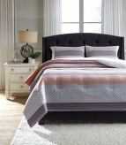 Ashley Anjanette Multi King Comforter Set Available Online in Dallas Fort Worth Texas