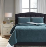 Ashley Minette Teal King Quilt Set Available Online in Dallas Fort Worth Texas