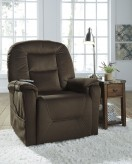 Ashley Samir Coffee Power Lift Recliner Available Online in Dallas Fort Worth Texas