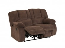 Ashley Roan Cocoa Reclining Loveseat Available Online in Dallas Fort Worth Texas