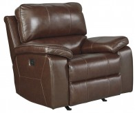 Ashley Transister Coffee Power Rocker Recliner Available Online in Dallas Fort Worth Texas