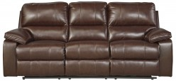 Ashley Transister Coffee Power Reclining Sofa Available Online in Dallas Fort Worth Texas