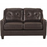 Ashley O'Kean Mahogany Loveseat Available Online in Dallas Fort Worth Texas