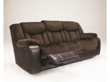 Ashley Tafton Dark Brown Reclining Sofa Available Online in Dallas Fort Worth Texas
