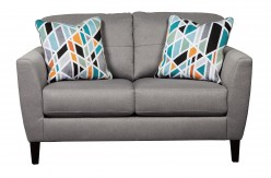 Ashley Pelsor Gray Loveseat Available Online in Dallas Fort Worth Texas