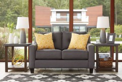 Aldie Nuvella Gray Loveseat Available Online in Dallas Fort Worth Texas