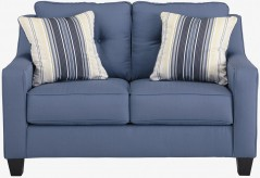 Aldie Nuvella Blue Loveseat Available Online in Dallas Fort Worth Texas
