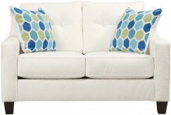 Ashley Aldie Nuvella White Loveseat Available Online in Dallas Fort Worth Texas
