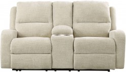 Ashley Krismen Sand Power Reclining Console Loveseat Available Online in Dallas Fort Worth Texas